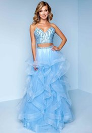 $enCountryForm.capitalKeyWord Australia - Light Sky Blue Sexy Spaghetti A Line Two Pieces Evening Dress Elegant Beaded Crystals Sequins Beautiful Dresses Sexy Evening Formal Gowns