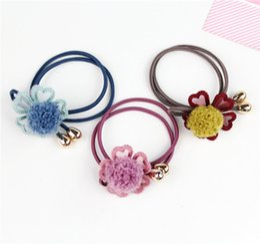 Indian Hair Rubber Bands Australia - Jewelry Korean tiara hair accessories new hair ball big flower bow tie rubber band hair ring