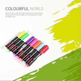 Highlighter Pen Colors Australia - 8 Colors box 6 8 10mm Highlighter Fluorescent Liquid Chalk Marker Pen for LED Writing Menu Board Glass Window Sign