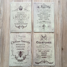 vintage metal poster Australia - Retro Plaque Wall Decor for Bar Pub Kitchen Home Vintage Metal Poster Plate Metal Signs Painting Plaque 8X12 inch SH190918