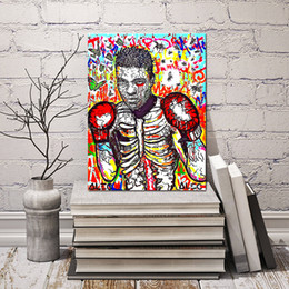 $enCountryForm.capitalKeyWord Australia - Muhammad Ali Original Mix Poster Alec Monopolyingly Poster Paintings On Canvas Wars Modern Art Wall Pictures For Kid Living Room Home Decor