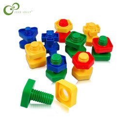 China plastic 5 Sets Screw blockss plastic children toys stitching nuts dismantling puzzle brain combination toys LYQ supplier combination toy nut suppliers