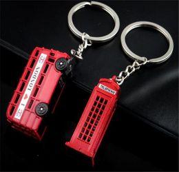 London pendants online shopping - 100pcs London Red Bus Key organizer telephone booth Key Holder Key Pendant Keychain Souvenir Gifts keyring R346
