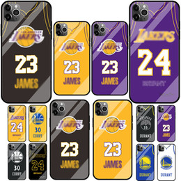 basketball phone cases iphone 2020 - For iPhone11 6.1 6p 7plus 8G iPhonex XS XR MAX Basketball Star Fashion Glass Protective Cover Personalized Creative Ultr