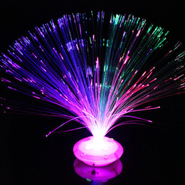 fiber optic night light lamp Canada - Flower Night Light Lamp 8 modes LED Fiber Optic Lamps Stand Home Holiday DIY Decorations Party Supplies Hot Sale