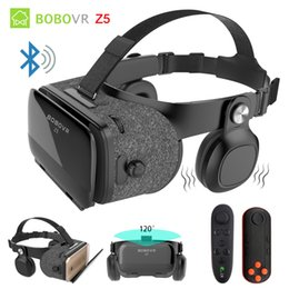 8585d6f46e65 BOBOVR Z5 4D Bluetooth Virtual Reality 3D Glasses Cardboard Helmet Smartphone  VR Goggles Shock Headset Box For Iphone 8 Android