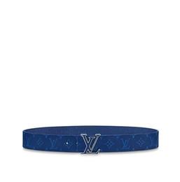 $enCountryForm.capitalKeyWord UK - 2019 M0159U blue INITIALES 40 MM DOUBLE-SIDED BELT Men Authentic Reversible Belt New Official Men Belt With Box