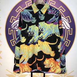 Best Printed Shirts Australia - 2019 Best Version Full Tigers Printed Women Men Long Sleeve Shirts Hiphop Streetwear Men Cotton Casual Shirts