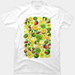$enCountryForm.capitalKeyWord Australia - Fruit t shirt Banana kiwi melon strawberry short sleeve tees Nice food fadeless photo clothing Elastic cotton Tshirt