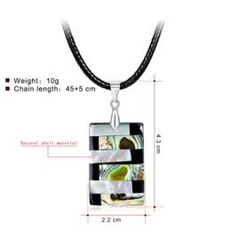 Red Rectangle Pendant Australia - Rectangle Pearl Abalone Shell Necklace Handmade Creative Charm Necklaces In Stock Factory Ladies Clavicle Pendants Wholesale Women Jewellery