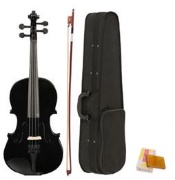 4/4 Tamaño completo Violín acústico Violin negro con estuche arqueamiento de resina en venta
