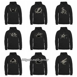 3c42f3dbf Men Women Youth Capitals Lightning Senators Predators Wild Stars Avalanche  Flames Coyotes Black Rink Warrior Pullover Hoodie