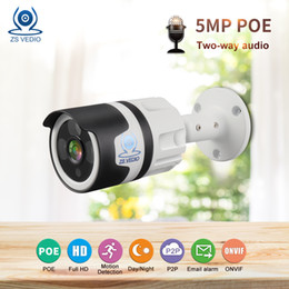 Audio Surveillance Infrared Australia - ZSVEDIO Surveillance cameras IP Camera Seetong Full HD 5MP POE Audio Network P2P onvif H.265 Two-way Audio Security CCTV CAM UC