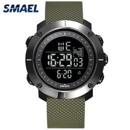 $enCountryForm.capitalKeyWord Australia - SMAEL Digital Watches Big Men Clock LED display Digital Watch Waterproof Relogio Masculino 1711 Army Mens Watches Sport