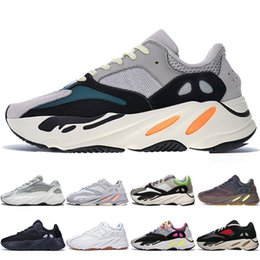 cheap kanye shoes UK - With Box Cheap Kanye West 700 V2 Static 3M Mauve Inertia 700s Wave Runner Mens Running shoes for men Women sports sneakers trainers