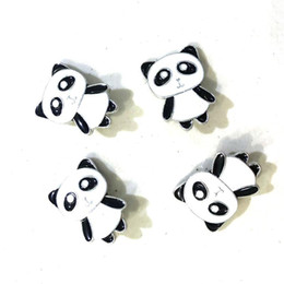 Noosa sNap jewelry online shopping - Cute Chinese Panda Noosa mm Snap Button Chunks DIY Ginger Snap Button Charms Bracelet Necklace Jewelry
