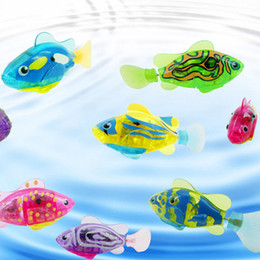 $enCountryForm.capitalKeyWord NZ - 1PC Swimming Electronic Fish Activated Battery Robofish Powered Toy For Children Kid Bathing Toys Gift Random Color