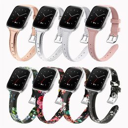 Red Smart Watches Australia - Suitable for Fitbit Versa smart watches Lightweight and simple body leather strap