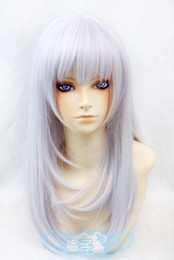 Wholesale k cosplay for sale - Group buy K Kushina Anna Silver Purple cm Cosplay Wig