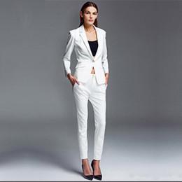0d2fe4698042 Female Busines s Elegant Pant Suits OL Formal Work Wear Blazer Women  Trouser Suit Ladies Office Uniform 2 Piece Set