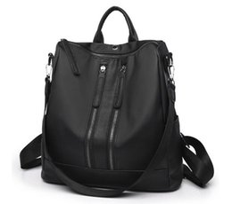 $enCountryForm.capitalKeyWord Australia - wholesale new womens Korean version fashion Simple Double back Leisure zipper Oxford cloth Shoulder Bags backpacks handbags