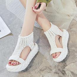 $enCountryForm.capitalKeyWord Canada - Designer Women Thick Heel Sandals Summer Platform Shoes Ladies Hand-woven Sexy Flat Zapatos Mujer Sandalias Y19070203