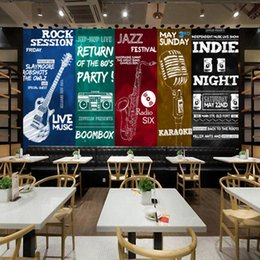 $enCountryForm.capitalKeyWord Canada - Large 8D Papel Mural Musical Instruments 3D Silk Wallpaper Mural for Rock Bar Coffee KTV Background 3d Photo Mural Wall paper arkadi