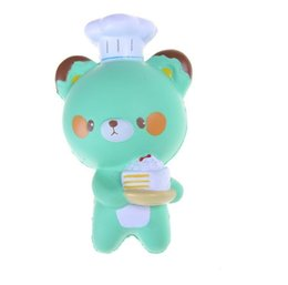 China low price Squishy Jumbo Panda 14CM Cell Phone Strap Chef Pastry Bear Squishy Bread Slow Rising Toy Cartoon Cake Bun With Fragrant cheap chef cartoon suppliers