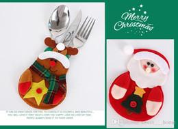 Christmas Kitchen Set Australia - 2017Christmas Silverware Holder Lovely Snowman Deerlet Kitchen Tableware Holder Dinner Bag Party Christmas Table Cutlery Sets