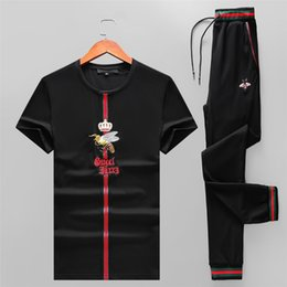 $enCountryForm.capitalKeyWord NZ - Edition New Pattern Man Tracksuit Lapel And Short Sleeve 0119 Motion Trousers Korean 2019 Embroidery Leisure Sports Suit