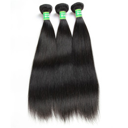 18 Inch Human Hair For NZ - 100% Human Hair Silky Natural Straight Hair 3 Bundles 8-28 inch Human Hair Weaves Brazilian Hairs for Sale