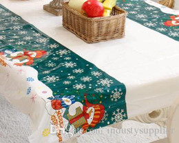 print tablecloths wholesale Australia - Disposable Tablecloth Merry Christmas decoration Tablecloth Rectangular Printed Tablecloth PVC Cartoon high quality 110*180cm table ornament