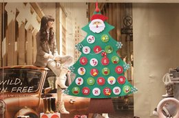 $enCountryForm.capitalKeyWord UK - Creative DIY Calendar Felt Christmas Tree with Decorations Door Wall Candy Hanging Kids Educational Gift Xmas Tress
