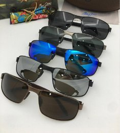 23c81fe0534 Brand designer maui jim sunglasses mj187 rimless 187 Uv protection luxury  men women driving outdoor polarized sunglasses with mj case