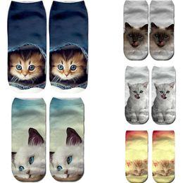 38e31add9e86 10pairs Ankle Socks Cute Unisex Short Sock 3D Animal Printed Sports Sock  Low Cut Ankle Socks Women Casual Cat Pattern Socks