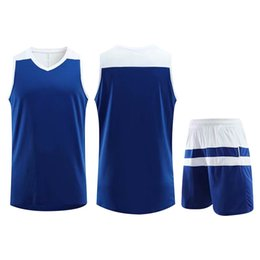 jersey basketball best UK - Best Selling Customized Training Sportswear Basketball Jersey Blue Running Jogging Men Women Striped Trendy Clothing Suit Plus Size 5XL