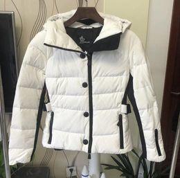 $enCountryForm.capitalKeyWord Australia - Women Fashion hooded drawstring soft white goose down short ski suit down jacket Outerwear out white