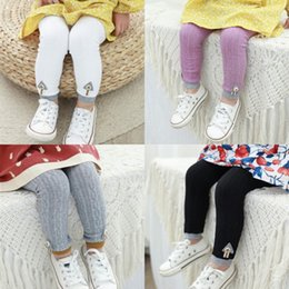 78898cb084944 Kids Girls Leggings Autumn Winter Knitted Children Solid Color Legging Baby  Toddler Casual Ankle Luster Pencil Pants Black color