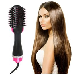 $enCountryForm.capitalKeyWord Australia - Drop Ship Electric Heating Hair Straight Curler Pro Salon Hair Brush One Step Dry Wet Two Using Hair Dryer Comb EU US UK Plug