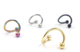 $enCountryForm.capitalKeyWord Australia - Punk Stainless Steel Nose Rings S Spiral Helix Ear Stud Lip Nose Ring Body Piercing Jewelry