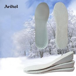 lifts elevators NZ - Height Increase Insoles Winter Keep Warm Wool Felt EVA Heel Lift Insert Shoes Pad Shoe Elevator High Increase 2-4 cm