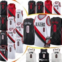 Logo jerseys online shopping - Damian Lillard Jerseys CJ McCollum Jersey Top quality Embroidery Logos NEW men