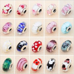 ea7eeeaa1 20 style 925 Sterling Silver Charms for Pandora with logo for Women Murano  Glass Charm European Beads fit Bracelet Bangle Jewelry making