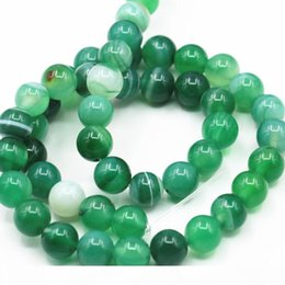 Wholesale Round Natural Stone Veins Onyx Agates Loose Beads 6 8 10 12mm Pick Size for Jewelry Making Green Carnelian FindingS 15inch A348
