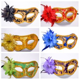 $enCountryForm.capitalKeyWord UK - Masquerade mask direct side flower face mask and flower half face with Halloween costume party props T2I5322