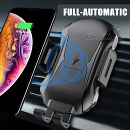 $enCountryForm.capitalKeyWord Australia - 10W Qi wireless Car charger Fast Charging Stand Car mount Phone Holder Air Vent grip For iphone XR XS MAX Samsung s10 Plus E Qi-enabled