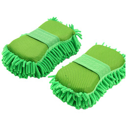 Chenille Towels Wholesale UK - Thickening Auto Car Hand Soft Towel Microfiber Chenille Washing Gloves Coral Fleece Gloves Car Washer Household Cleaning Glove