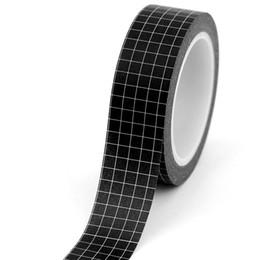 $enCountryForm.capitalKeyWord Australia - 2019 1pc Black and White Grid Washi Tape Japanese Paper DIY Planner Masking Tape Adhesive Tapes Stickers Decorative Stationery Tapes 2016