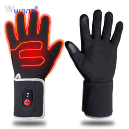 $enCountryForm.capitalKeyWord UK - Unisex Winter Heated Gloves with Battery Touch Screen Electric Heating Skiing Gloves Windproof for Riding Biking Winter Warmer