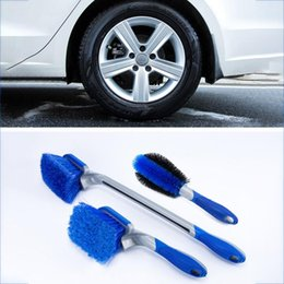 kit keyboard UK - 3pcs Car Cleaning Kit Cleaning Tire Ring Strong Decontamination Long Handle Brush Dusting Blinds Keyboard Brush #zer